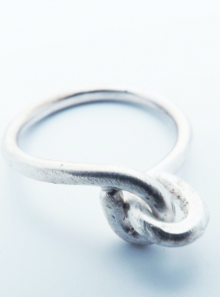 Silver Love-Knot Ring by Sarah Drew Jewellery