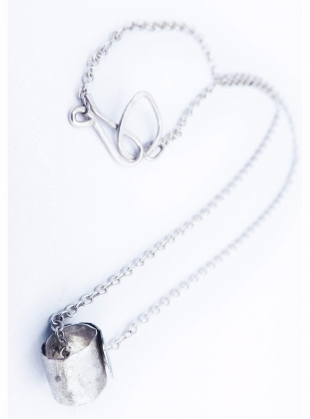 Young British Designers: Hammered Silver Ripcurl Necklace by Sarah Drew Jewellery