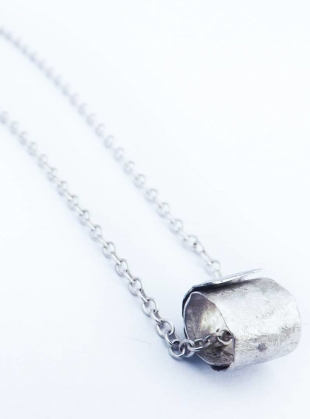Hammered Silver Ripcurl Necklace by Sarah Drew Jewellery