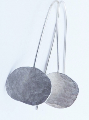 Young British Designers: Silver Pebble Earrings by Sarah Drew Jewellery