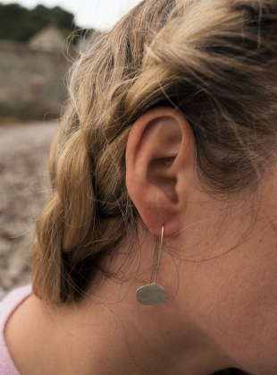 Silver Pebble Earrings by Sarah Drew Jewellery