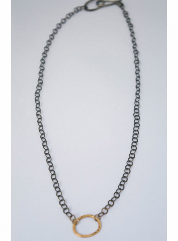 Young British Designers: 9ct Gold and Oxidised Silver Chain by Sarah Drew Jewellery