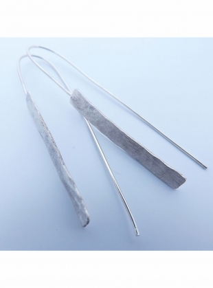 Young British Designers: Eco Silver Hammered Shard Earrings by Sarah Drew Jewellery