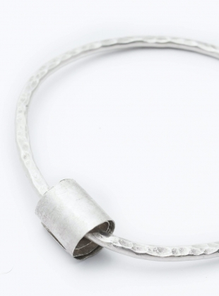Young British Designers: Hammered Heavy Eco-Silver Rip-Curl Bangle by Sarah Drew Jewellery