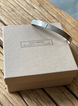 Young British Designers: Monolith Bangle with Gold Seam by Lucy Spink