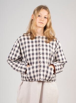 Young British Designers: VERSA Reversible Jacket. Rust/Black and White Gingham - last one by Kate Sheridan
