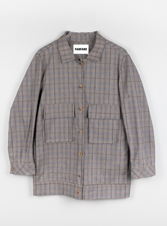 Young British Designers: Ethically Made Checked Utility Jacket by Fanfare Label