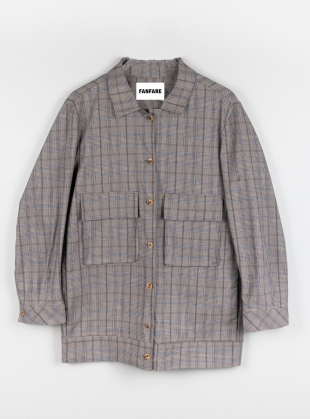 Ethically Made Checked Utility Jacket by Fanfare Label