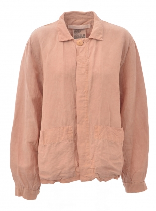 UNISEX BIG POCKET JACKET. Pink Avocado Dye by Phoebe English