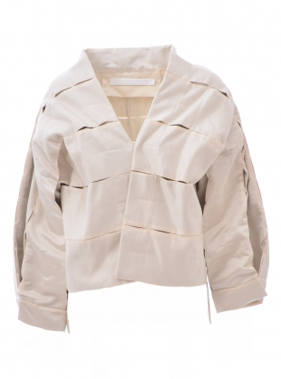 QUILTED PUFF JACKET. Ivory by Phoebe English