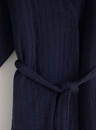 Young British Designers: ADELINE ORGANIC COTTON JACKET. Navy by Beaumont Organic