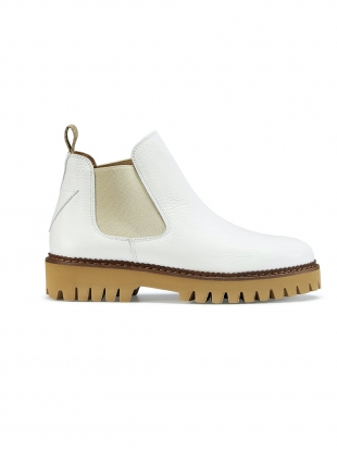 ZOLA BOOT in White Leather by Rogue Matilda