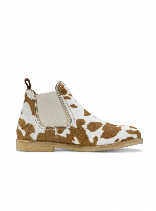 TERRY BOOT. Brown and White Cow Print by Rogue Matilda