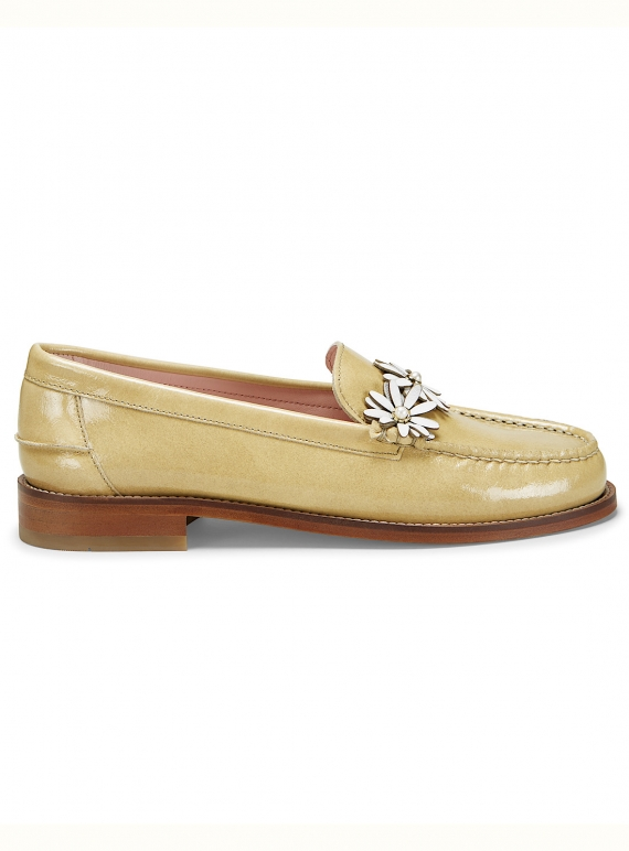 DITSY LOAFER. Tan Coated Leather by DITSY LOAFER. Tan Coated Leather