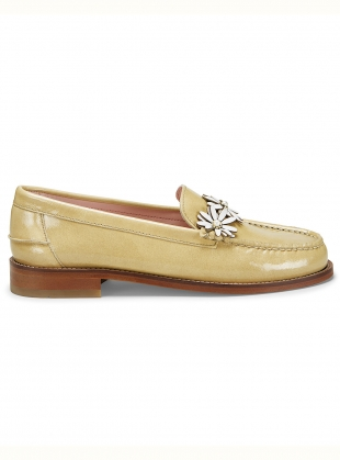 DITSY LOAFER. Tan Coated Leather by Rogue Matilda