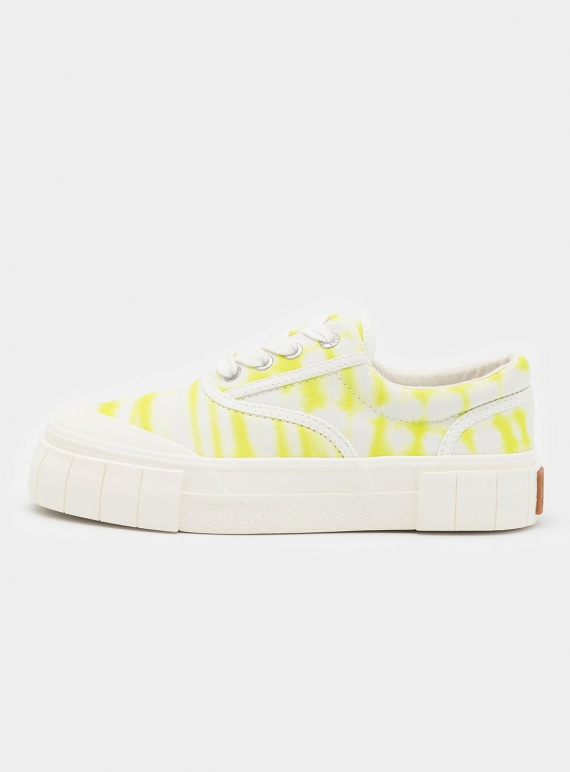 Young British Designers: OPAL OMBRE LOW TOPS. Lime by Good News