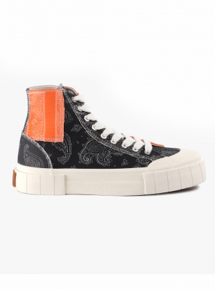 PALM PAISLEY HIGH TOPS. Patchwork by Good News