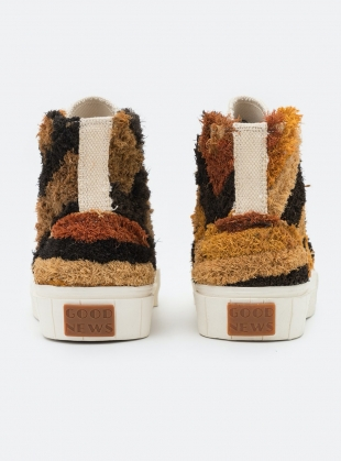 Young British Designers: PALM MOROCCAN HIGH TOPS. Oatmeal by Good News