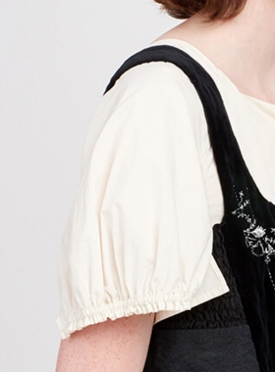 Young British Designers: Washed Cotton Embroidered Top by Renli Su