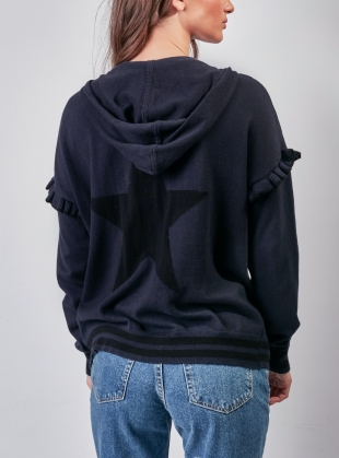 ADELITA HOODIE. Neat Navy/Blacklead by LAM Clothing