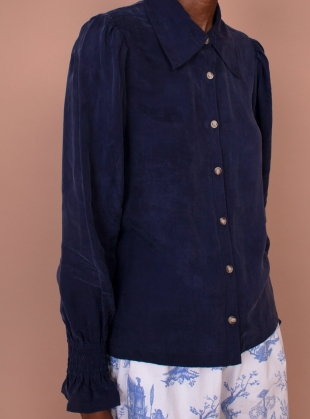 MIMOSA SHIRT. Navy by Meadows