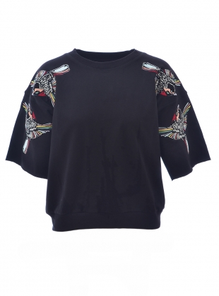 SUMMER SWEATSHIRT. Blue Jay Black by Tallulah & Hope