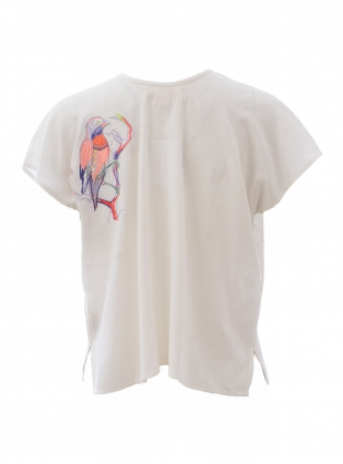Young British Designers: LUXE TEE. White Love Birds by Tallulah & Hope