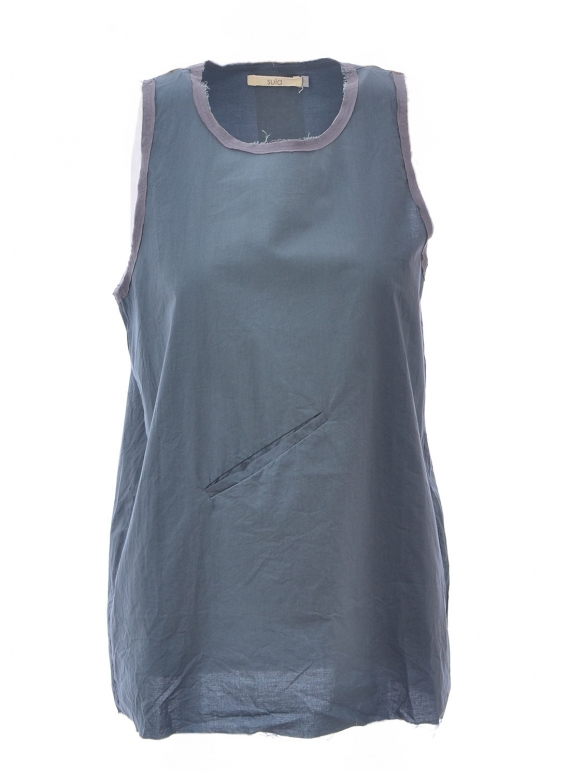 Young British Designers: SUGAR VEST. Vulcan Blue by SULA